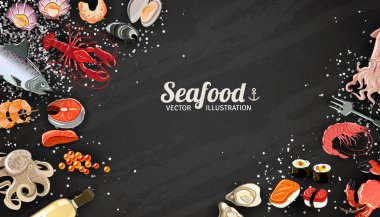 Seafood And Fish Background