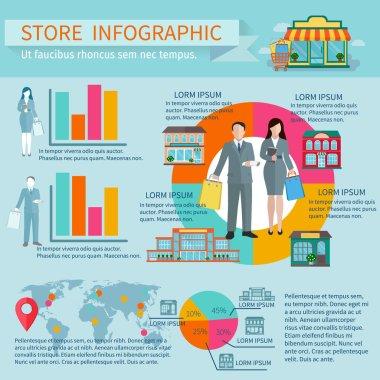 Stores infographic set