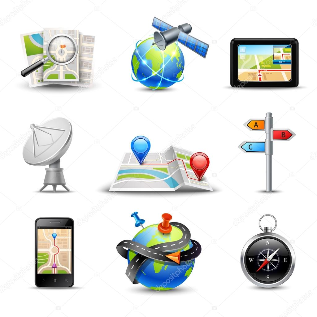 Realistic Navigation Icons