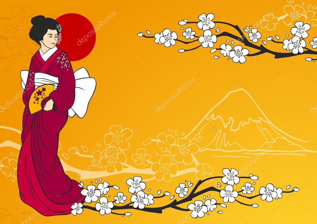 Geisha Vector Illustration