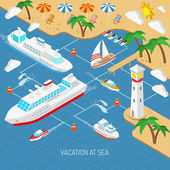 Sea vacation and ships concept
