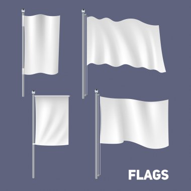 Realistic Flags Set