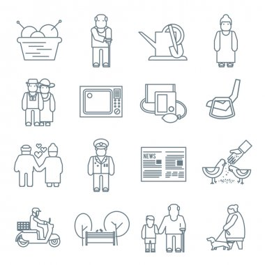 Pensioners Life Icons