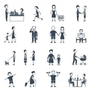 Daily Life Flat Icon Set