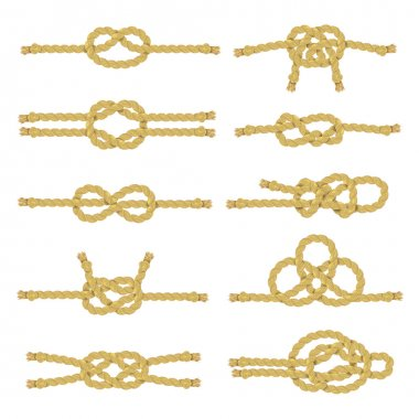 Rope Knot Decorative Icon Set