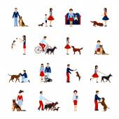 Fényképek Emberek, kutyák sor