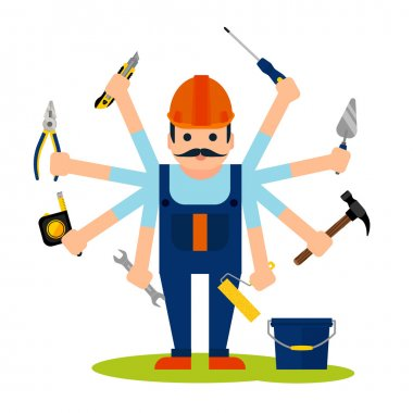 Concept of handyman worker