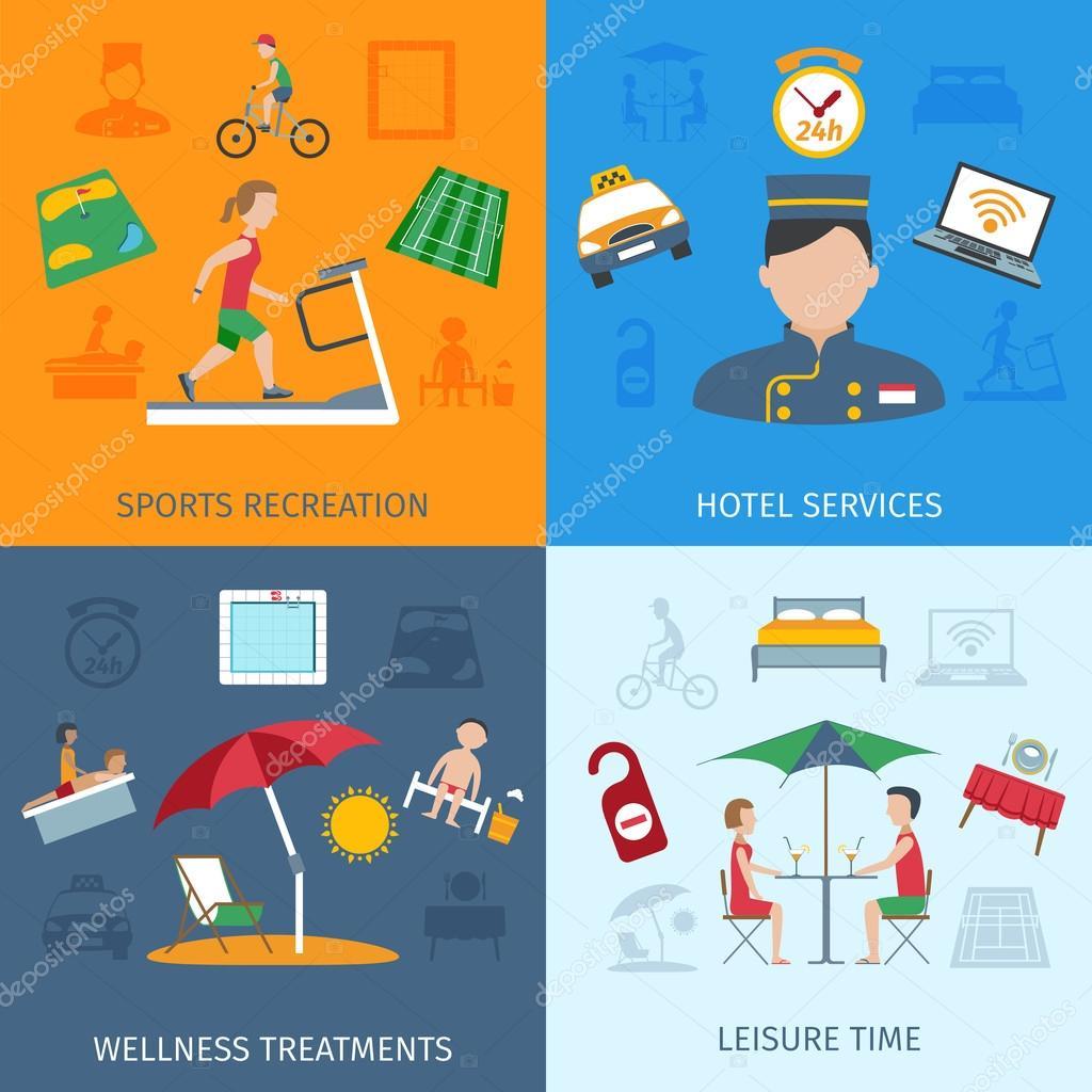 Hotel Services Set