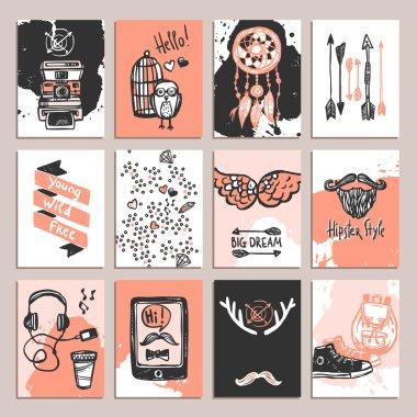 Hipster Card Set