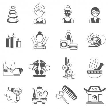 Spa Icons Black Set