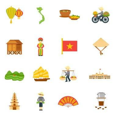 Vietnam Icons Set