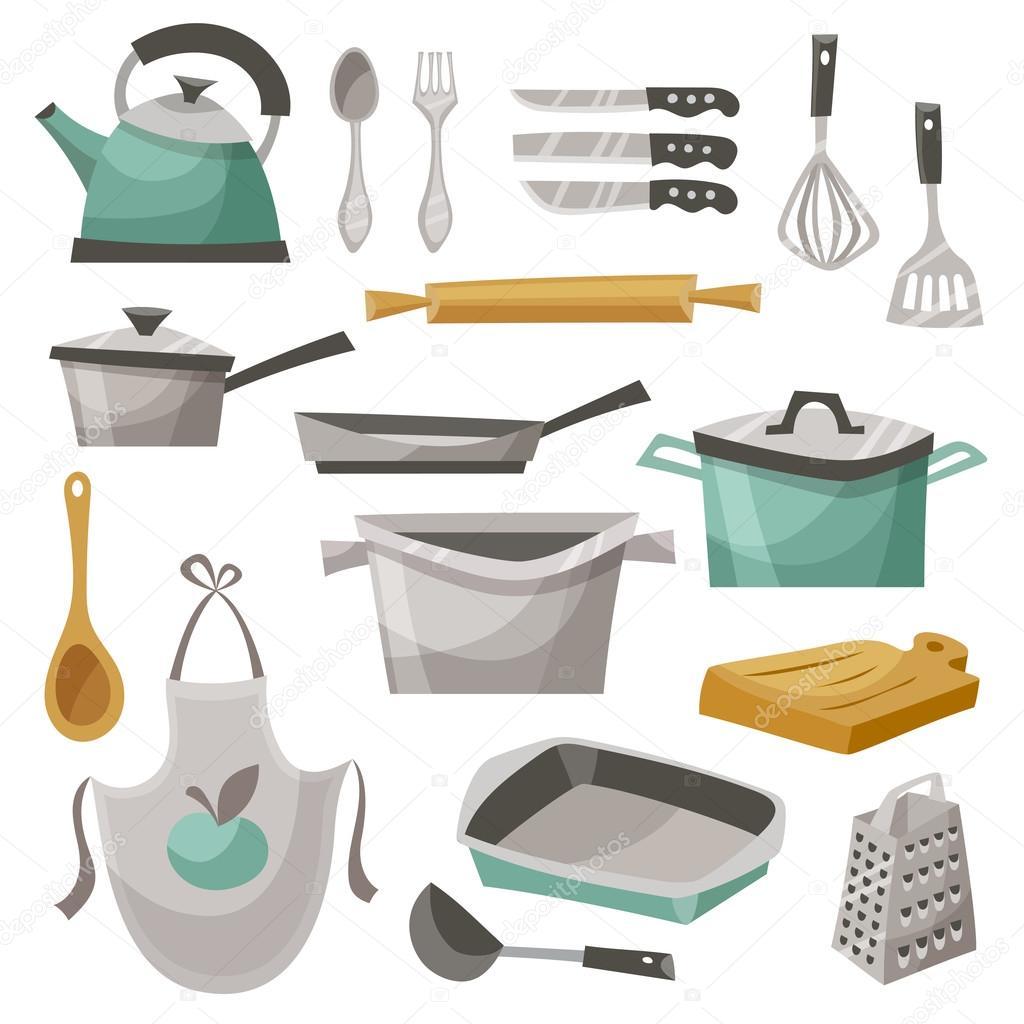 Sistema de iconos de cosas de cocina vector de stock for Cosas de cocina
