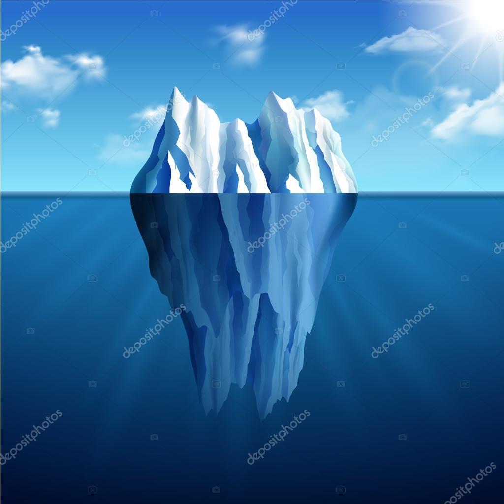 Iceberg Landscape Illustration