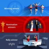 Sport és az jelölési nyertesek bannerek