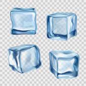 Fotografie Eis-Würfel-Blau Transparent