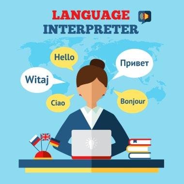 Language Translator Illustration