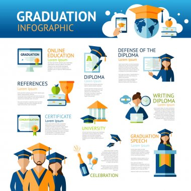 Graduation Infographics Set