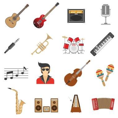 Music Icons Flat