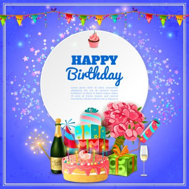 Happy birthday party background poster