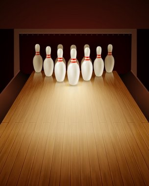 Bowling Game Realistic Illustration