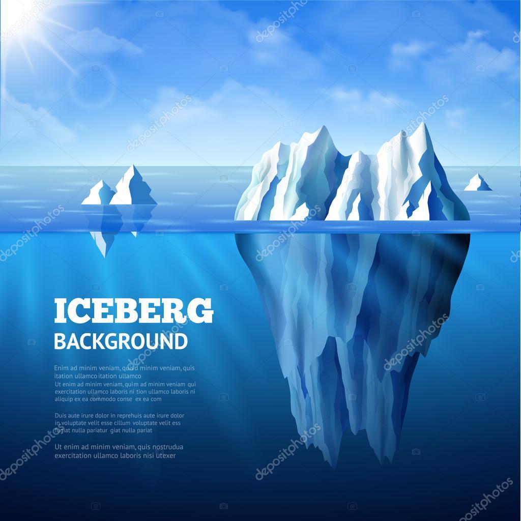 Iceberg Background Illustration