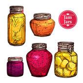 Photo Colored Jam Jars