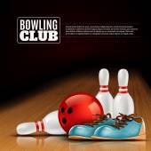 Bowlingové ligy vnitřní klub plakát