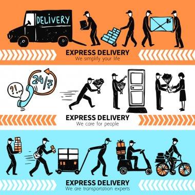 Delivery Banner Set