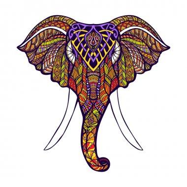 Elephant Head Colored