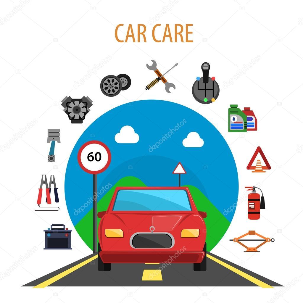 car service concept — stock vector © macrovector #85506154