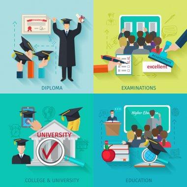 Higher Education Flat Set