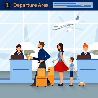 Scene In Airport Departure Area
