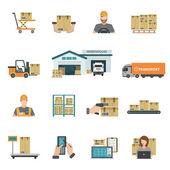 Fotografia set di icone di magazzino