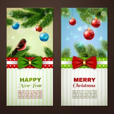 Christmas cards 2 banners set