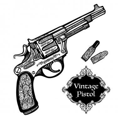 Hand Drawn Retro Pistols