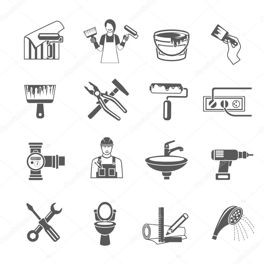 Home Repair Icons Set