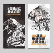 Horská turistika 2 svislé bannery