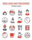 Kůži kosmetiku ikony Set