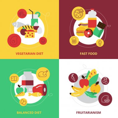 Food And Drinks Design Icons Set