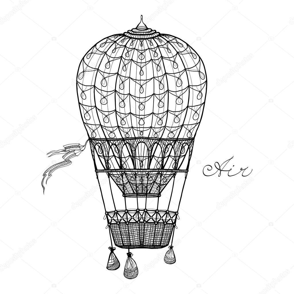 Hot Air Balloon — Stock Vector © macrovector #93121672