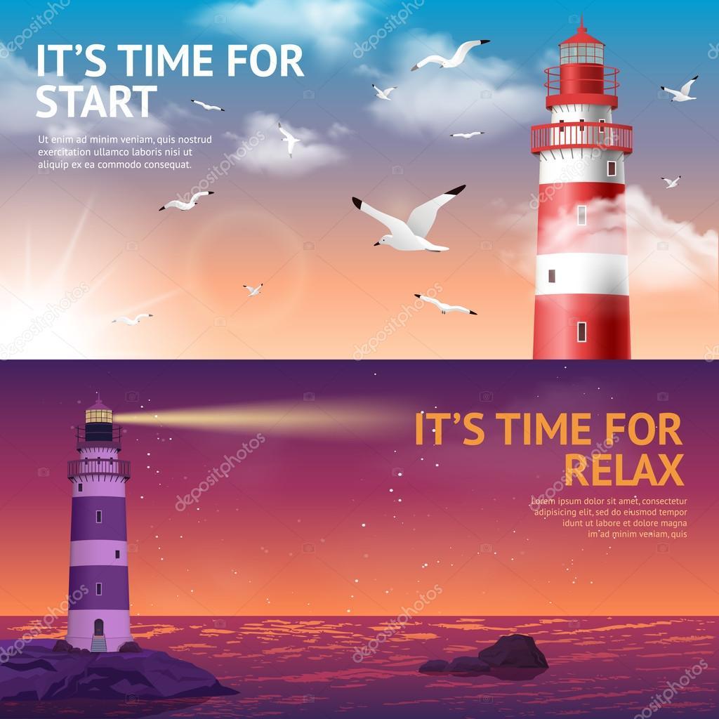Lighthouse Banner Set