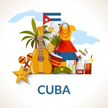 Cuban National Symbols Composition Poster Print