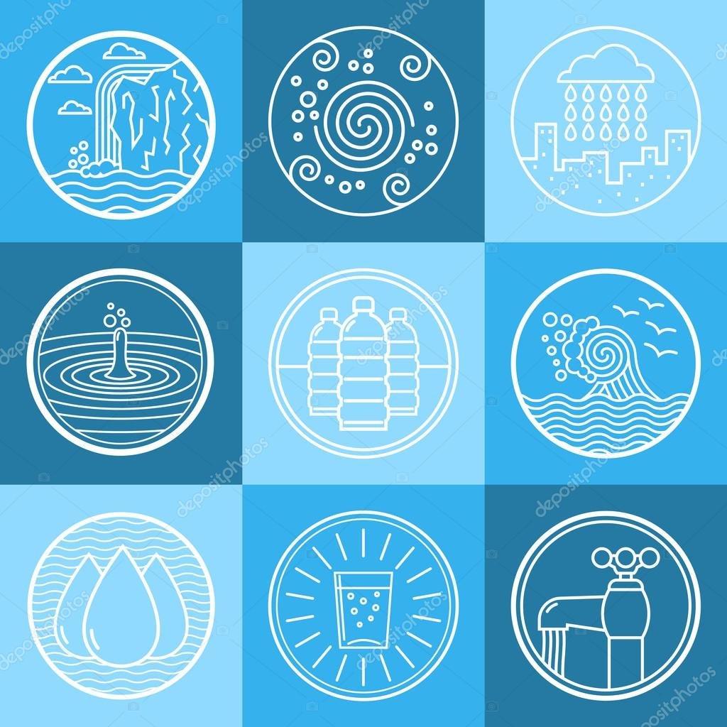 Water emblem set