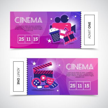 Cinema Horizontal Banners In Ticket Form