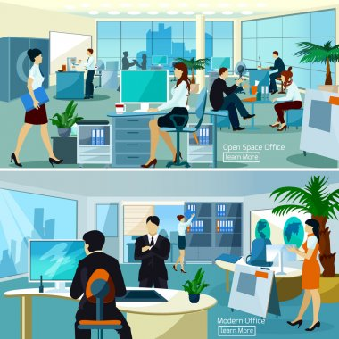 Office Compositions With Working People
