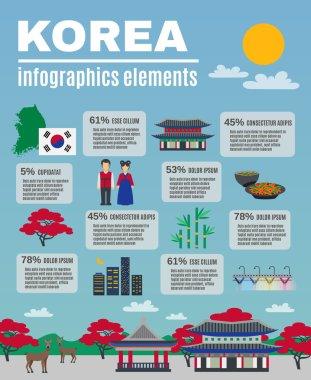 Korean Culture Infographic Presentation Layout Banner