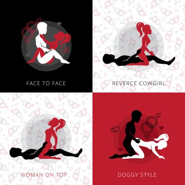 Kama Sutra Love Position Design Concept