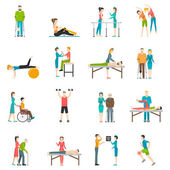 Fotografie Physiotherapy Rehabilitation Color Icons