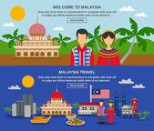 Fotografia Malaysia Culture 2 Flat Banners Webpage Design