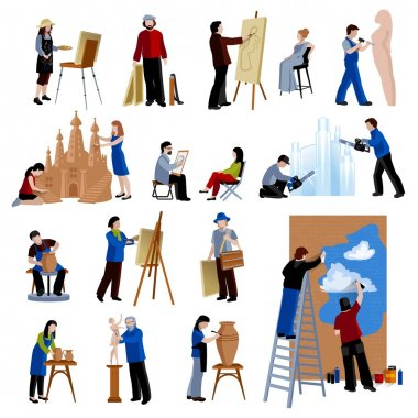 Creative Profession People Icons Set